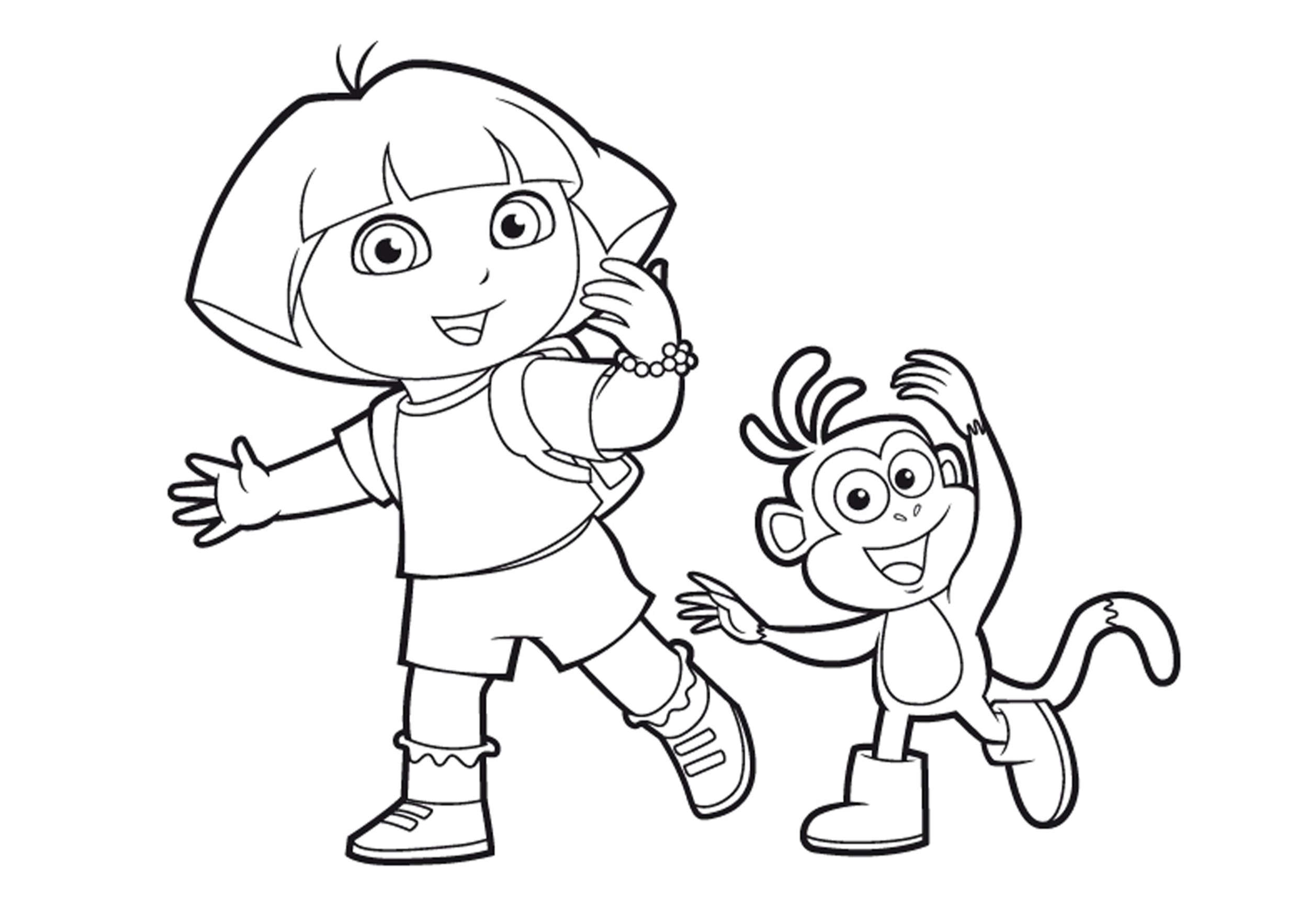 Coloriages dora imprimer backupyourbrain - Imprimer coloriages ...