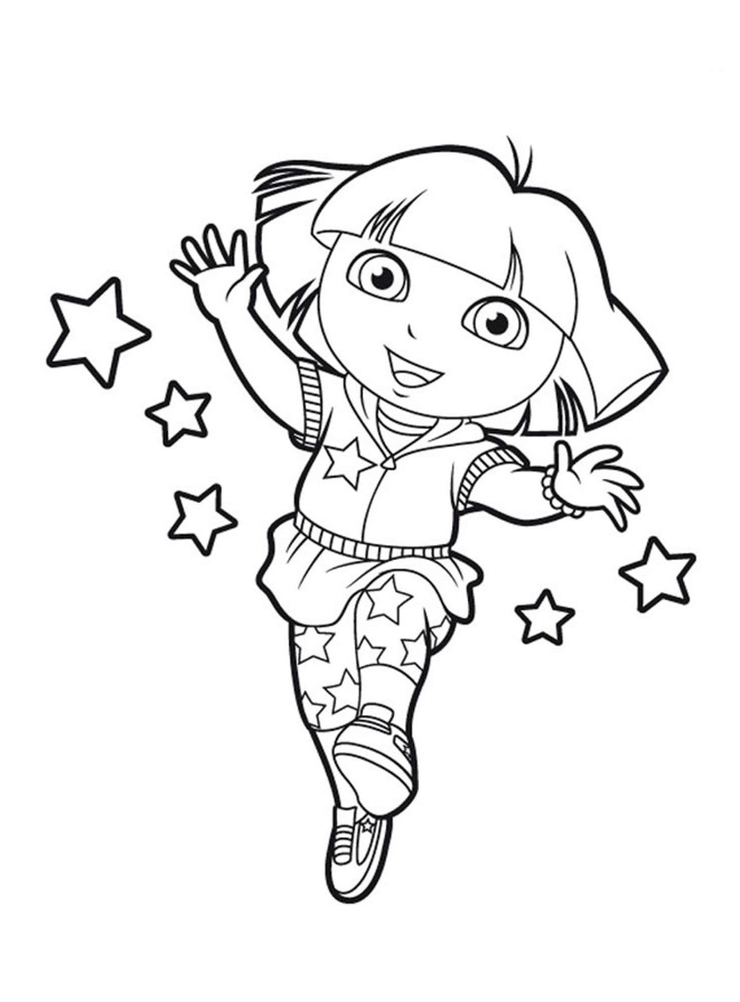 Coloriage Dora Princesse